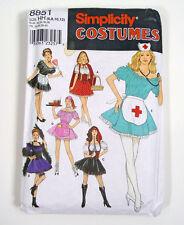 Sexy Nurse Dancer Maid Uncut Simplicity Costume 8851 Size HH 6,8,10,12