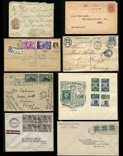 GREAT BRITAIN & Colonies Cover Collection Registered FDC Overprint Postage