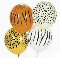 12 ANIMAL PRINT Balloons PARTY Zoo Jungle SAFARI Zebra Cheetah Leopard Made USA