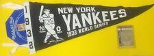YANKEES CLASSICS MITCHELL & NESS PENNANT W/ CARD 1932 WORLD SERIES #'D /96