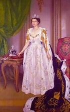 """QUEEN ELIZABETH II Coronation Portrait 8""""x12"""" Collector Restored Photoprint"""