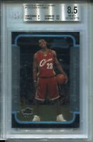 2003 Bowman CHROME #123 Lebron James Rookie Card Graded BGS Nm Mint+ 8.5