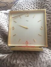 imhof im hof swiss made clock gold mantle brass clock german  vintage clock 99p