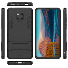 Huawei Mate 20 Pro Black Slim Full Body Drop Protection Phone Case Kick Stand