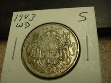 1943 WD - Canada Silver Half Dollar - Canadian 50 cent coin