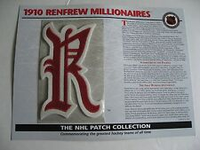 1910 Renfrew Millionaires Official NHL Patch By Willabee & Ward