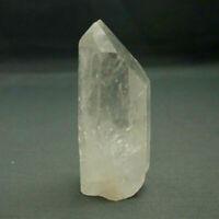 Large Clear Quartz Crystal Natural Single Point Cut Base Freestanding 7cm High