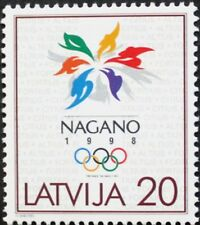 Winter Olympic games in Japan, stamp, Latvia, flames, 1998, SG ref: 486, MNH