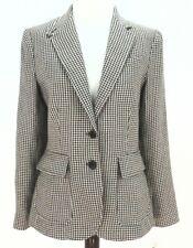 RALPH LAUREN LRL jacket Blazer HOUNDSTOOTH Linen Brown Equestrian Womens 4 $290