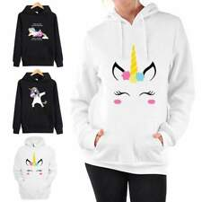 Fille Pull Couple Adorable Licorne À Capuche Bande Dessinée Danse Licorne Tops