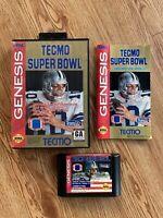 Tecmo Super Bowl (Sega Genesis) *AUTHENTIC, TESTED*