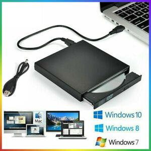 Externes DVD Laufwerk USB 3.0/2.0 Brenner Slim CD DVD-RW Brenner für PC Laptop!