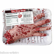 Halloween Horror Chop Shop Meat Market Gruesome Severed HAND Prop Decoration