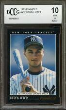 1993 Pinnacle #457 Derek Jeter Yankees Rookie Card BGS BCCG 10 MInt+