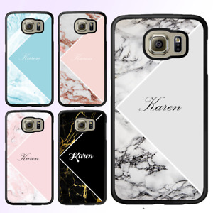 For Galaxy S21 Ultra Note 10 Plus Bumper Cover Case Marble II Personalised Name