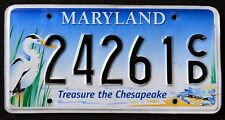 "MARYLAND "" CHESAPEAKE WILDLIFE HERON CRAB  "" MD Specialty Graphic License Plate"