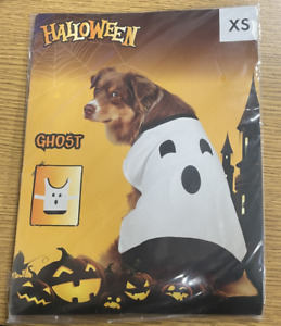 Halloween Ghost Dog Costume Pet Fancy Dress Fun Scary Cosplay Party Outfit