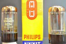 RARE MINIWATT HOLLAND GZ34/5AR4 SUPER RECTIFIER PAIR - EXCELLENT TV7 MATCHING