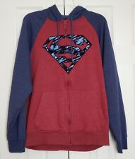 Superman Full Zip Sweatshirt Hoodie Size Large (42-44)