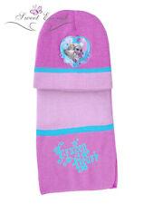 Disney Frozen Knitted 3 Piece Set Beanie Hat Winter and scarf Elsa Anna size 54