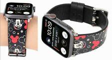 Mickey Mouse Leather Wristband Watchband Apple Series 1 2 3 4