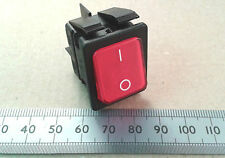 Large DPST Illuminated Mains Neon Rocker Switch 16A 250 VAC Red