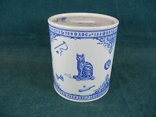 Spode Blue and White Edwardian Childhood Canister Bank