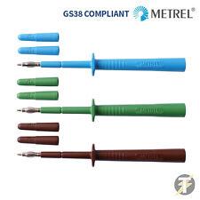 Metrel mlp3 Eléctrico Cable Prueba Sondas & Repuesto Shrouds