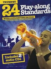 24 Play-Along Standards Trumpet Sheet Music Book with 2CDs