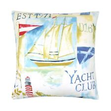 Relleno Evans Lichfield YACHT CLUB Barco Costa Azul / Rojo 100% Cojín de algodón