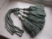 French a pair of rope tassel tiebacks  exquisite color interior finishing