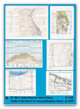 Peddinghaus 1884 1/16 6 Mappe Di Battaglia Africa Stampa Su Carta
