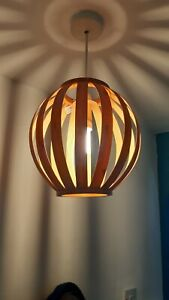 Natural Bamboo Curved Ball Ceiling Light Shade