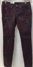 Ladies Volcom Size 6 Sound Check Super Skinny Black Flocked Jeans New BNWT