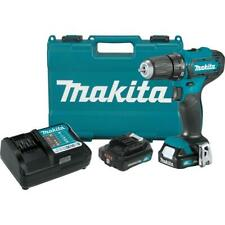 Makita 12-Volt MAX CXT Lithium-Ion Cordless 3/8 in. Driver Drill Kit, 2.0 Ah