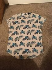 Ladies blue/beige tunic top size 12-14 by Hollister