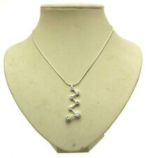 Cadena Colgante Plata Tono De moda Diamante 11565