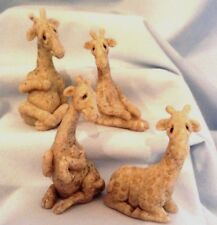Quarry Critters Giraffes Miniatures by Second Nature Retired Set of 4  $16.99