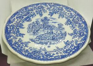 assiette décorative 26 cm céramique repas champètre Lunéville plate plato