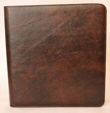 Lg Business Zipper Portfolio Amp Check Binder Dark Chocolate Smooth Leather