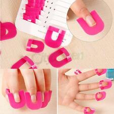 26PCS Manicure Finger Nail Art Tips Cover Polish Salon Shield Protector Mold Kit