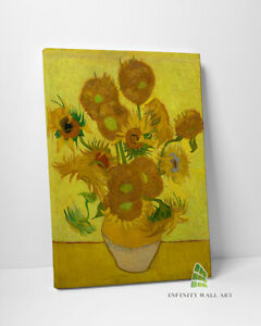 Vincent van Gogh Sunflowers Oil Painting Canvas Wall Art Print Picture-C413