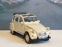 PERSONALISED CITROEN 2CV in BEIGH 1.38 DIECAST MODEL BOXED NEW BOYS TOYS PRESENT