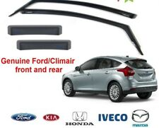 New! GENUINE FORD FOCUS 2011 - 2013 CLIMAIR WIND AIR DEFLECTORS FRONT + REAR