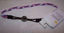 Under Armour UA All Charm Braided Headband PURPLE/PINK/WHITE ~ NWT
