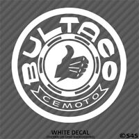 Bultaco Motorcycles Vinyl Decal Sticker - Choose Color