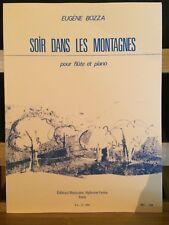 Eugène Bozza Soir dans les montagnes partition flûte et piano éditions Leduc