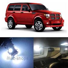 9Pcs Xenon White Interior LED SMD Light Package Kit For Dodge Nitro 2007 - 2012