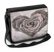 Rose Love Heart Laptop Messenger Bag - Floral Flowers