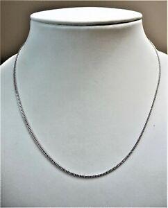 950 Platinum Wheat Chain   1mm Gauge   17 ins / 43.2mm    3.82gms    BNWOT